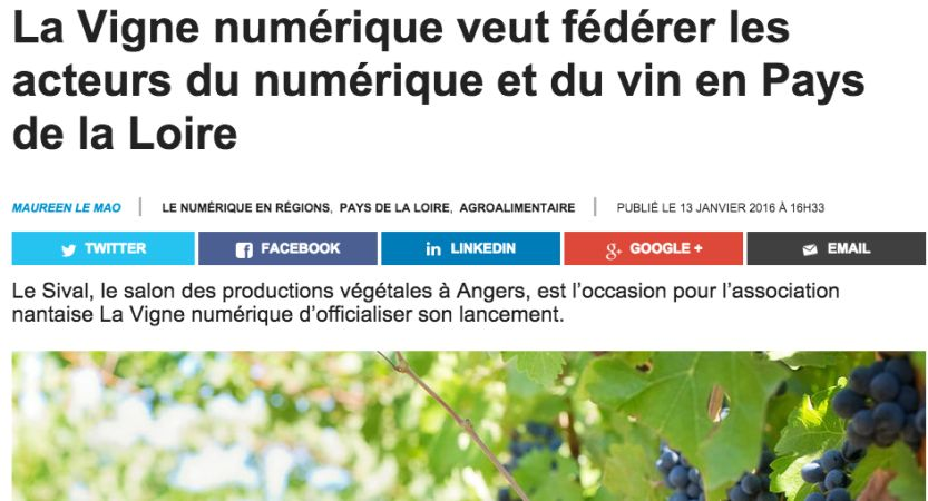 L'usine digitale – La Vigne Numérique nouveau cluster régional